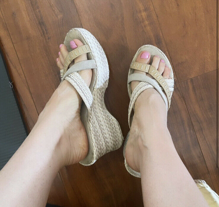 Chunky platform sandals with straps jute mules vi… - image 1