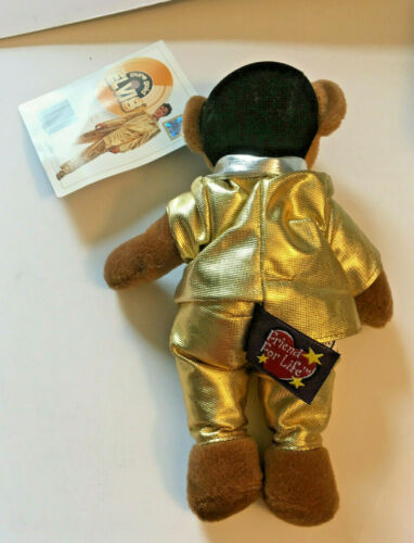 Rare Vermont Teddy Bear Elvis Klosterman Mini Teddy Bear Gold Suit NWT