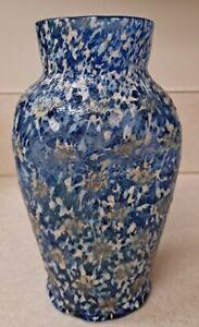 """Dugan Glass 6 1/4"""" OPTIC Starburst/Thunbprint Frit Vase Cobalt Blue VENETION Exc"""