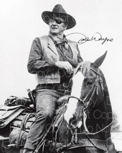 True Grit John Wayne Origninal 8X10 photo picture signed autograph RP