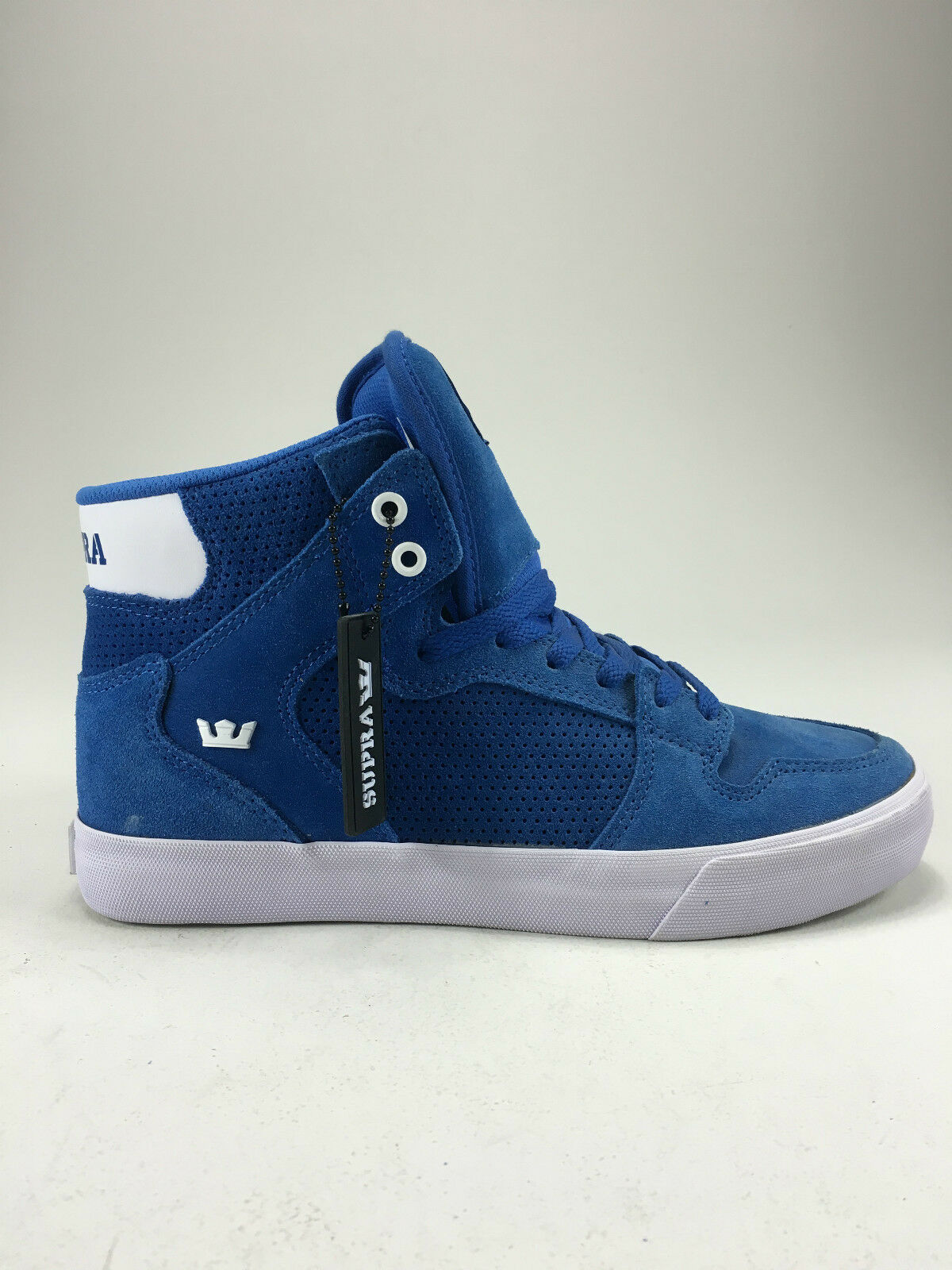 Supra Vaider shoes Trainers Royal White White Brand new in box in Size UK 8