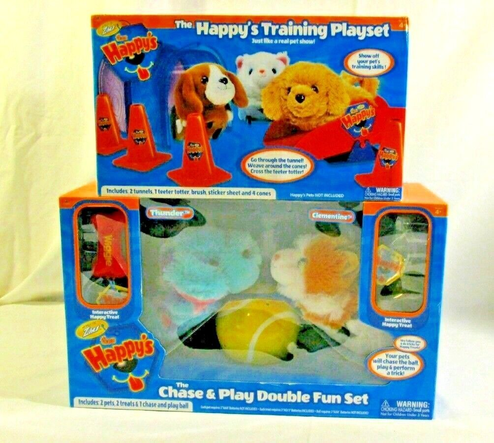 The Happy's Chase & Play Double Fun Set and Happy's Training Playset ZHU