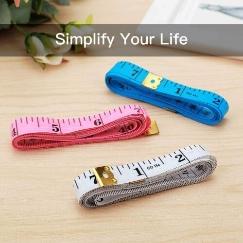 2-Pack Body Measuring Tape Ruler Sewing Cloth Tailor Measure 60 inch 150 cm