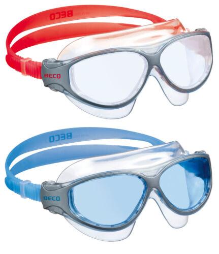 BECO Kinder//Jugend-Schwimmbrille Natal 12 blau  NEU//OVP Taucherbrille rot