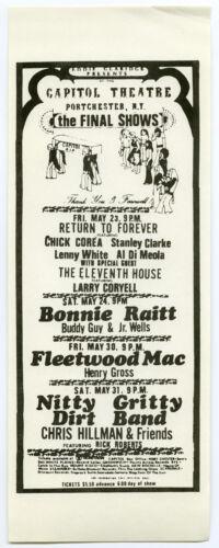 BONNIE RAITT Fleetwood Mac BUDDY GUY JR WELLS Original 1975 Concert Handbill