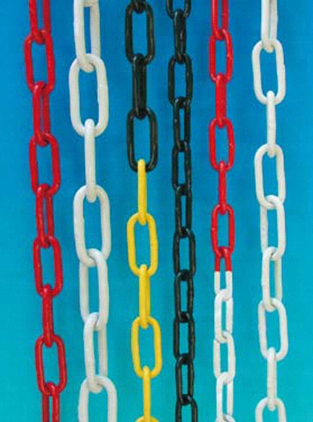 Absperrkette Stahlkette - Metall gelb-schwarz, Bund a 10 m