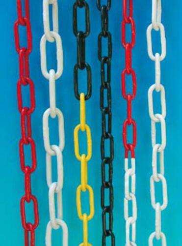 Absperrkette Stahlkette verschiedene Stärken Bund a 10 m Metall rot-weiß