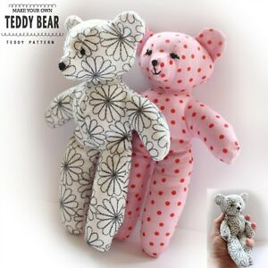 Playful image inside teddy bear sewing pattern free printable