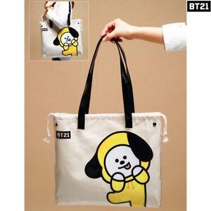 BTS BT21 Official Authentic Goods PVC Shoulder Bag Tote Bag 7Characters