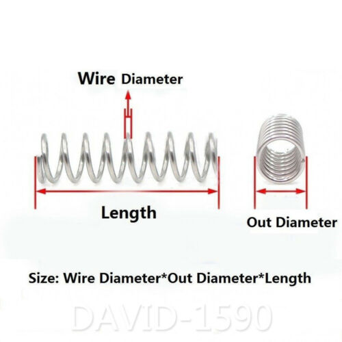 6-14mm Outside Dia 0.8mm Wire Dia Compression Spring 304 Stainless Steel