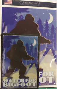 Watch-For-Bigfoot-Patch-and-Postcard-Set-Lantern-Press-Collectible-Patch