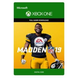 Details about MADDEN NFL 19 * XBOX ONE DIGITAL GAME DOWNLOAD * KEY * SAME  DAY DELIVERY