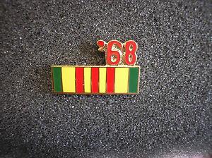 MILITARY-HAT-PIN-VIETNAM-SERVICE-RIBBON-W-68