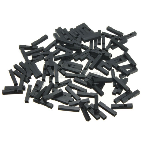 100x Jumper Crimp 1 Pin Header Connector Housing Kit For Dupont Wire Compact A
