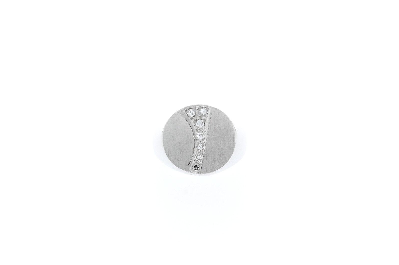 A0583-585er whitegoldring mit Brillianten Ringgroße 54 Gewicht 5,6 gramm