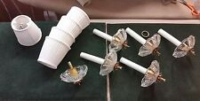 6 chandelier crystal bobesh 5 white small lamp shades parts replacement repairs