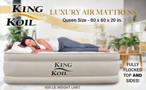 New King Koil Queen Sized Luxury raised air mattress ...