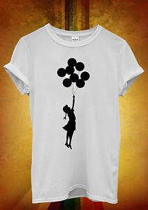 Banksy Balloon Girl Cool Hipster Hommes Femmes Unisexe T Shirt Débardeur Débardeur 457-afficher Le Titre D'origine Prix Le Moins Cher De Notre Site