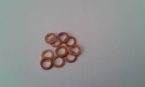 10 Stück Kupferdichtring  Dichtung Kupfer 8x14x1 mm  DIN 7603  Form A