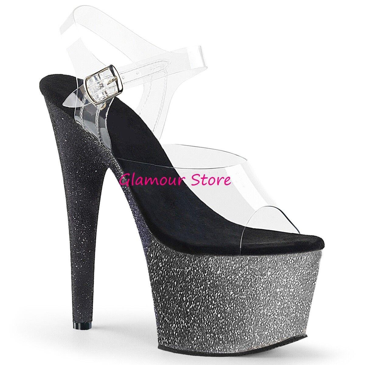 Sexy SANDALI GLITTER tacco 18 dal 35 35 35 al 42 OMBRE' plateau 4 ColorI zapatos club  a precios asequibles