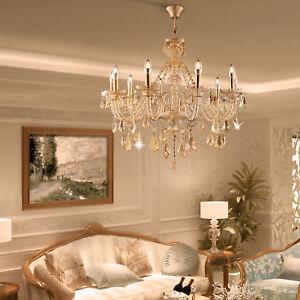 Image is loading Elegant-Modern-Ceiling-Light-Crystal-Chandelier-Pendant- Lighting- & Elegant Modern Ceiling Light Crystal Chandelier Pendant Lighting ... azcodes.com