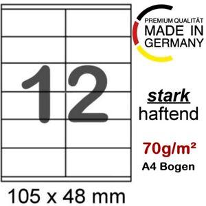 100 Blatt Etiketten 105x48 Format wie Herma 4457 4363 Avery Zweckform 6175 3424