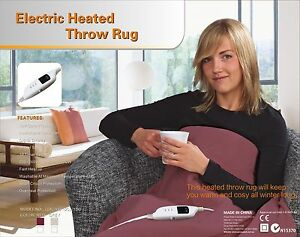 Image Is Loading Heated Throw Rug Electric Snuggle Blanket And Washable