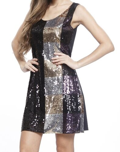 Silver Black Sequine Short Party Prom Dress Gown 10 Gold 14 sizes 8 NEW 12