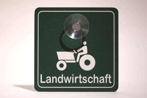 Schild fürs Auto ALUDIBOND-Schild mit Saugnapf LANDWIRTSCHAFT 10x10cm