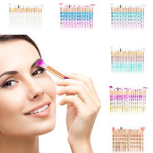 20PCS-Kabuki-Maquillaje-Conjunto-de-Pinceles-base-maquillaje-cara-colorete-en-polvo-cepillo-nuevo