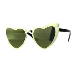 Heart-Shape-Sunglasses-Metal-Frame-Lolita-Fashion-Shades-UV-400