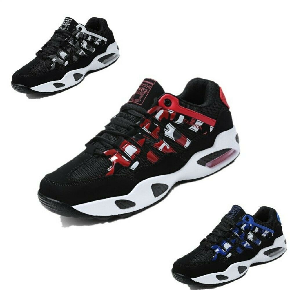 Mens Round Toe Breathable Mesh Running shoes Multi colors Lace Up Casual Sneaker