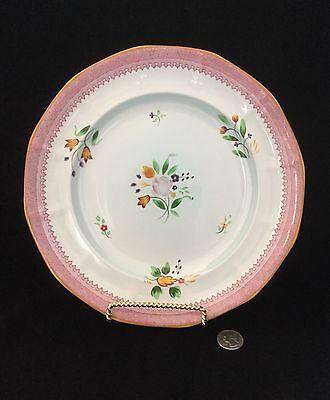 "Lowestoft Calyx Ware 10"" Dinner Plate 2087 Ironstone Adams-England       *2156"
