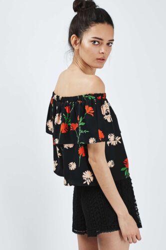 negro Topshop Topshop Bardot negro superior floral Bardot x7qOnAIwRg 42b2d77553d6