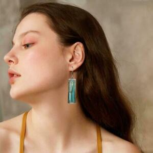 Natuerlicher-Pfau-bunte-blaue-Feuer-Labradorit-handgemachte-einzelne-Ohrring-C4T1