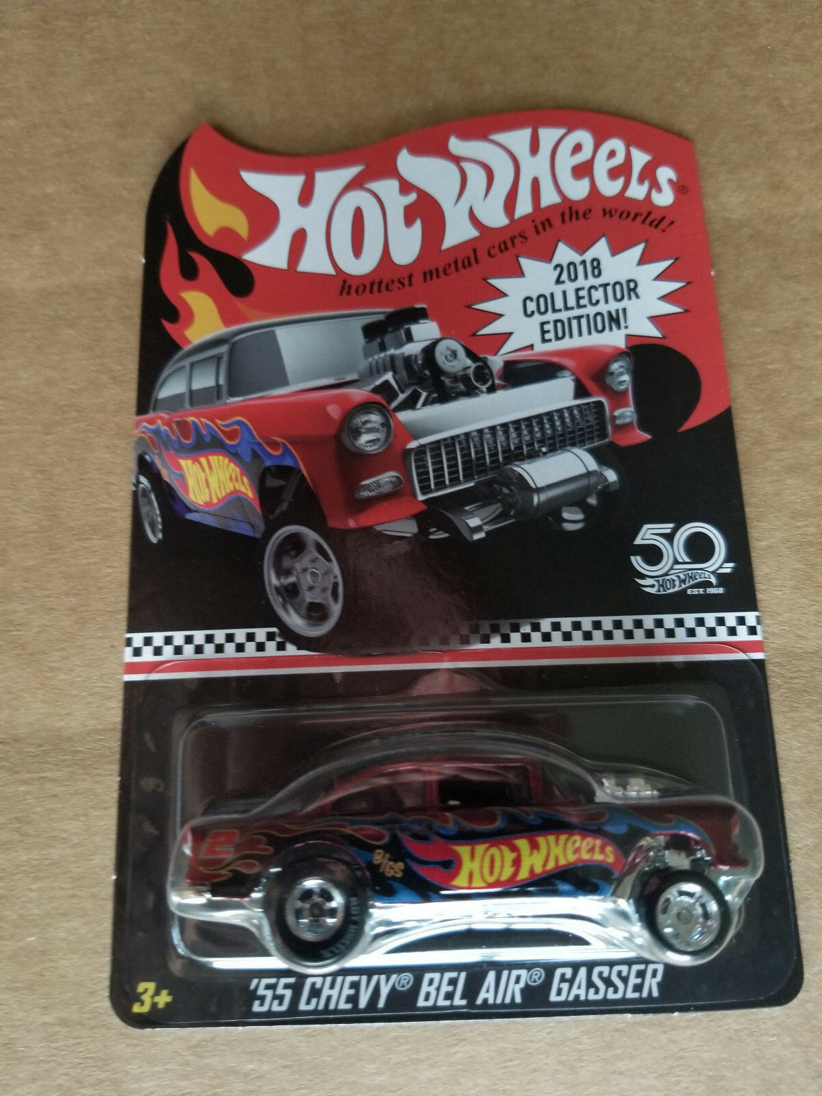 2018 Hot Wheels Mail in Promo Kmart 55 CHEVY BEL AIR GASSER 2 4 Red