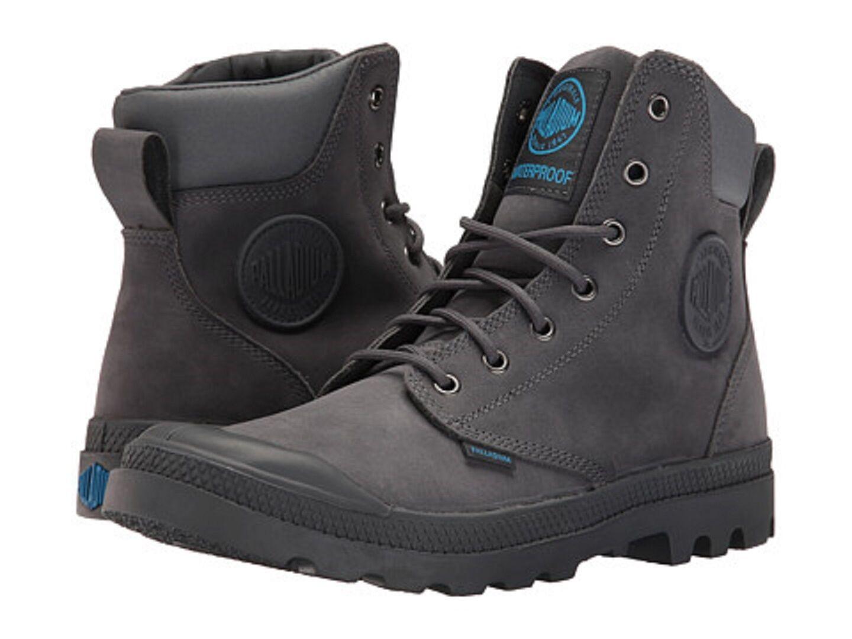 PALLADIUM 732310 77M PAMAPA CUFF WP LUX Mn's (M) Iron Gate Leather Casual Boots