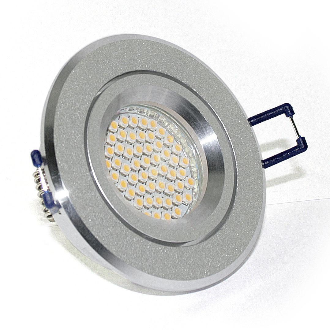 5-- 15er Set 230V SMD LED Bad-Spots Einbaulampen K5402 IP20 GU10 3Watt Kaltweiss