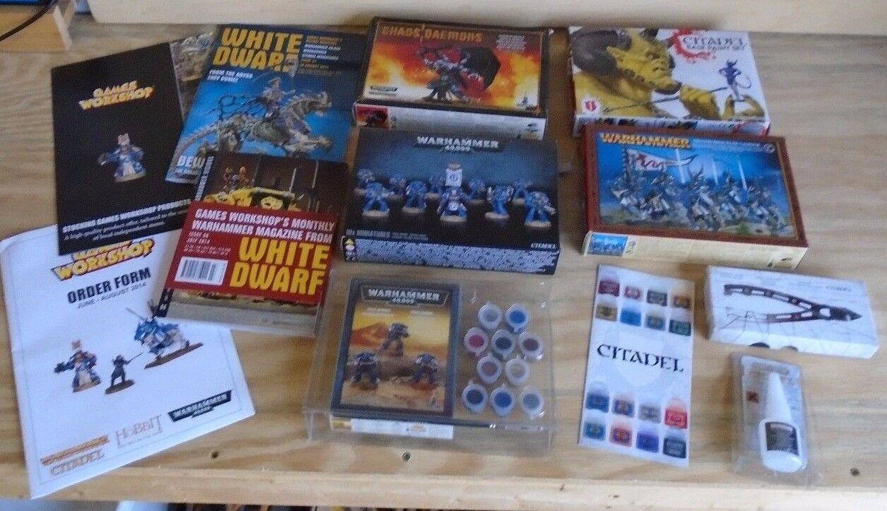 Warhammer 40,000 Kits, Citadel Paints and and and Fine Detail Cutters 9582ac