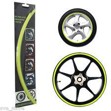 Flurocent Green Reflective Rim Decorative sticker for Car & Bike - Self Adhesive