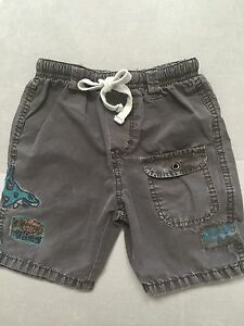 Baby-Boy-Naartjie-Light-Shorts-Size-12-18-Month-Brown-Surf-With-Shark