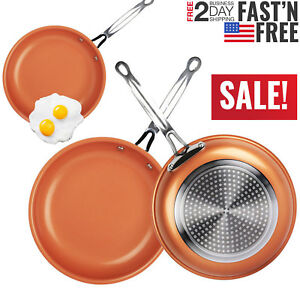 Non Stick Copper Frying Pan Ceramic Coating Induction