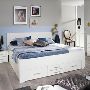 bett isotta bettanlage bettgestell komfortbrett f r schlafzimmer in wei 180x200 ebay. Black Bedroom Furniture Sets. Home Design Ideas
