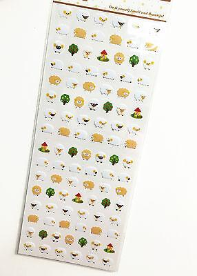 1 x sheet Mini Sheep stickers scrapbook DIY Cute #109