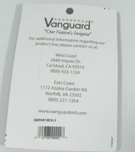 New Military Vanguard 5 Slot Full Size Ribbon Mounting Bar Rack Holder 1D3