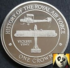 2008 GIBRALTAR 1 One Crown History of RAF Royal Air Force VICKERS VIMY Coin