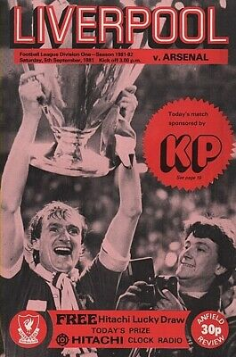 Football Programme Liverpool Vs Brighton 81//82 Season