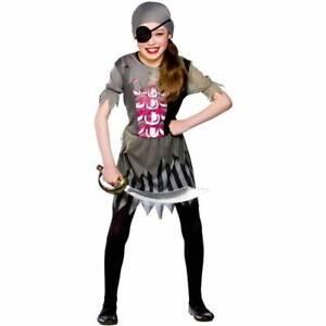 Image is loading Girls-Wicked-Zombie-Pirate-Girl-Halloween-Fancy-Dress-  sc 1 st  eBay & Girls Wicked Zombie Pirate Girl Halloween Fancy Dress Costume   eBay