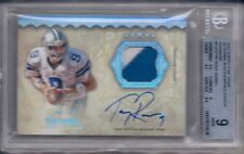 TONY ROMO 2012 TOPPS FIVE STAR VETERAN AUTOGRAPHED PATCH RAINBOW BGS 9/AU 10