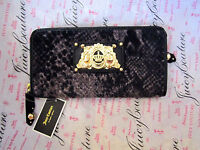 Juicy Couture Wallet Wild Things Velour Leather Snake Pattern